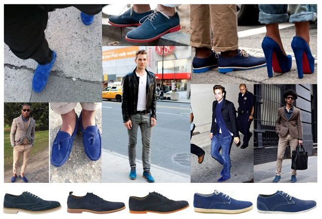 Awesome Mens Blue Suede Shoes