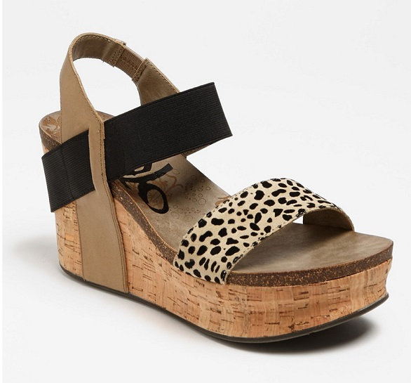 Black Bushnell Wedge Sandals For Women