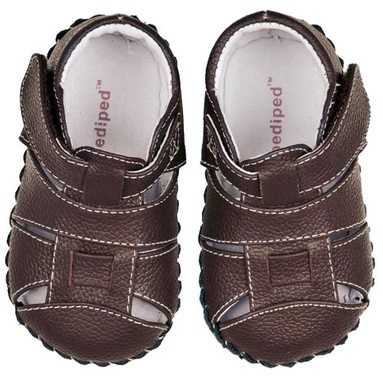 Brown Baby Walking Shoes