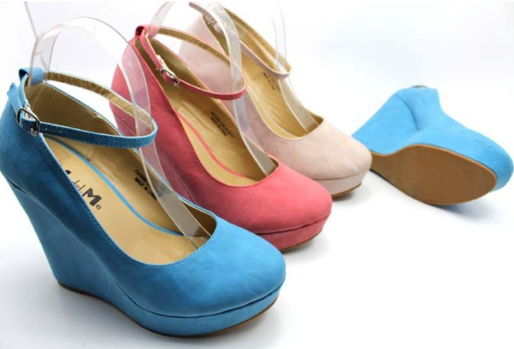 Buy High Quality Womens White, Blue, Pink Wedges Shoes