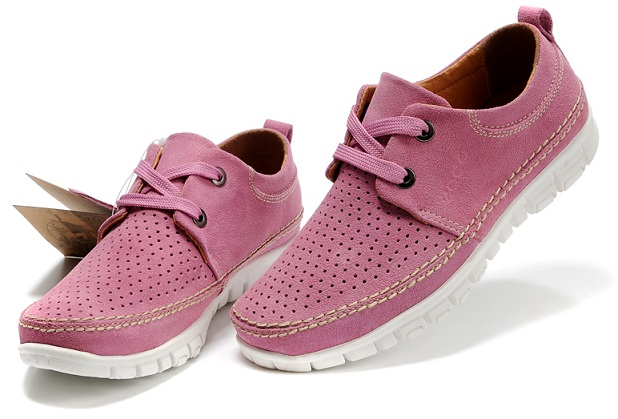 Ecco Pink Casual Womens Shoes