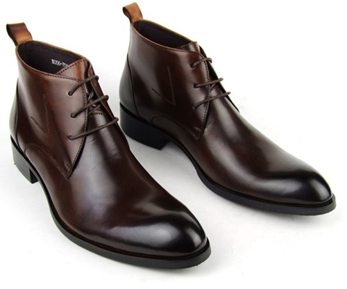 Genuine High Top Dress Shoes For Men