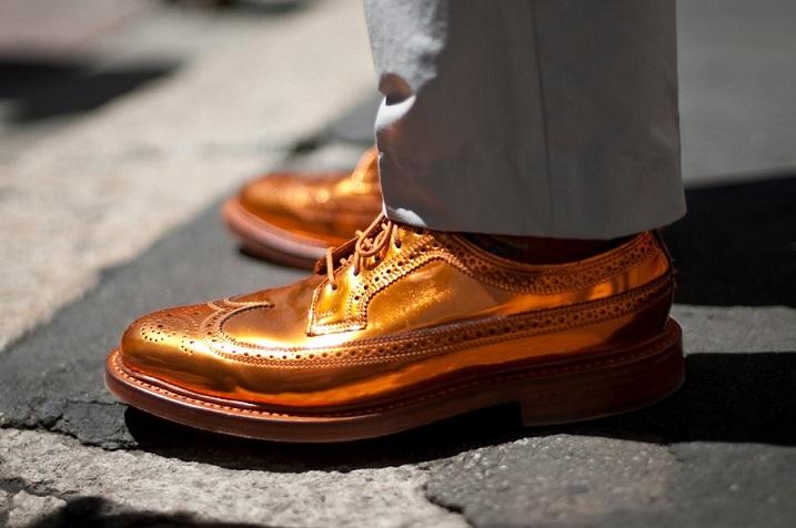 Gold Mens Fashion Dress Shoes