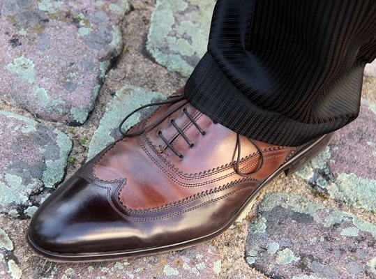 Italian Leather Brown Dress Shoes