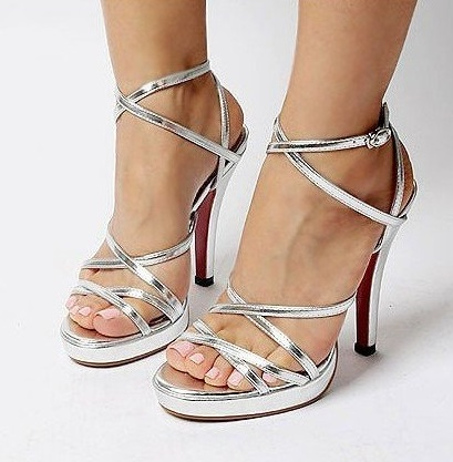 Special Silver Evening Shoes For Women
