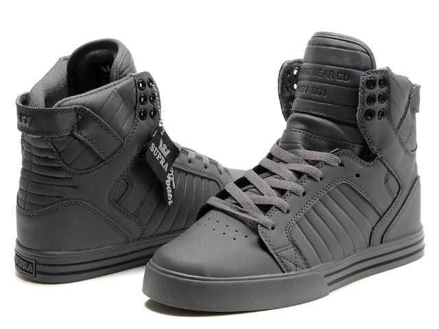 Supra Darl Grey High Top Shoes For Men
