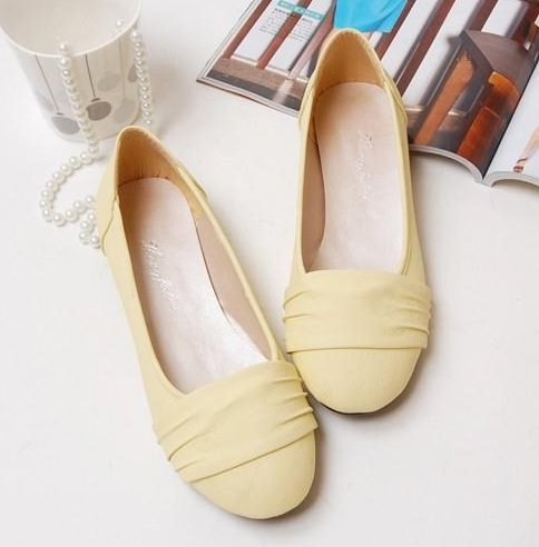White Dressy Flat Shoes For Women