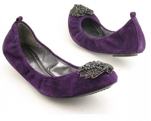 Petite Purple Flat Shoes For Women